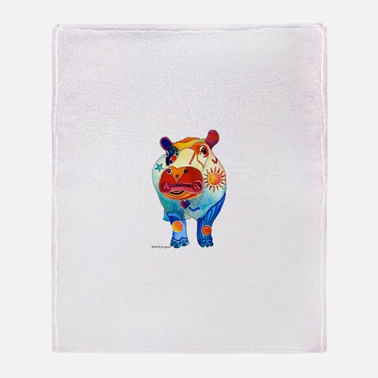 Hippos Gifts Throw Blanket