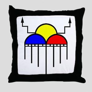 Hopi Rain Cloud Throw Pillow