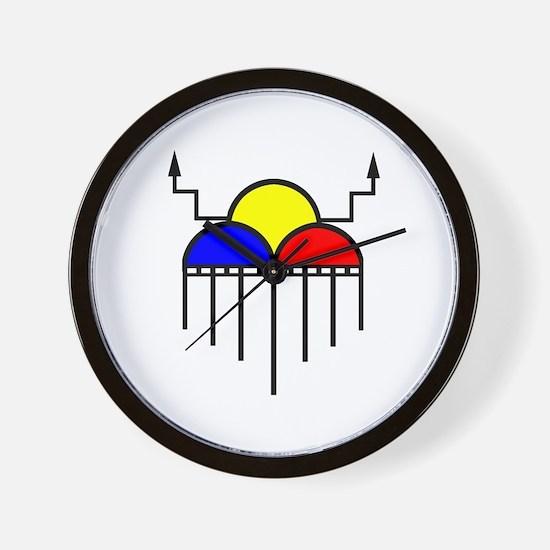 Hopi Rain Cloud Wall Clock