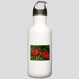 red blooms Stainless Water Bottle 1.0L