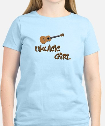 girls ukulele Women's Light T-Shirt