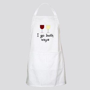 I Go Both Ways Red White Wine Apron