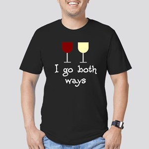 I Go Both Ways Red White Wine Men's Fitted T-Shirt