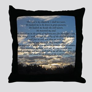 Beautiful Psalm 23 Throw Pillow