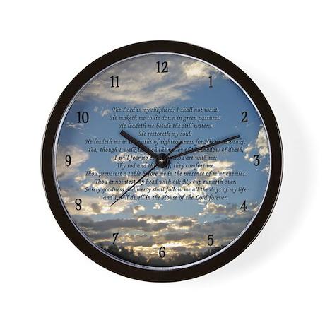 Beautiful Psalm 23 Wall Clock