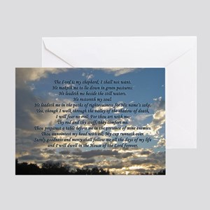 Beautiful Psalm 23 Greeting Card