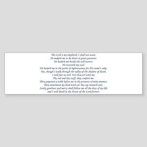 Beautiful Psalm 23 Sticker (Bumper)