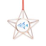 Ocean Triggerfish Copper Star Ornament