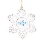Ocean Triggerfish Rustic Snowflake Ornament