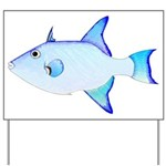 Ocean Triggerfish Yard Sign