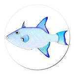 Ocean Triggerfish Round Car Magnet