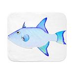 Ocean Triggerfish Sherpa Fleece Throw Blanket