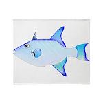 Ocean Triggerfish Throw Blanket