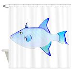 Ocean Triggerfish Shower Curtain