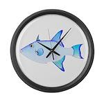 Ocean Triggerfish Large Wall Clock