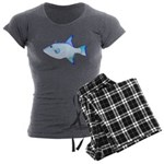 Ocean Triggerfish Women's Charcoal Pajamas