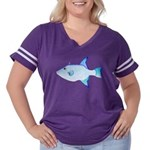 Ocean Triggerfish Women's Plus Size Football T-Shi