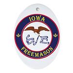 Iowa Masons Ornament (Oval)