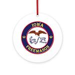 Iowa Masons Ornament (Round)