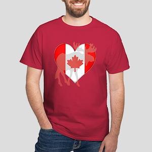 I Love Canada Moose Dark T-Shirt