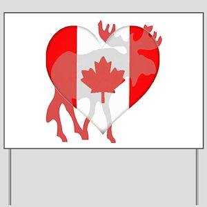 I Love Canada Moose Yard Sign