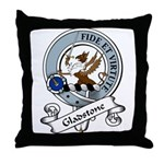 Gladstone Clan Badge Throw Pillow