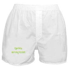 Ego Trip One Way Ticket Boxer Shorts