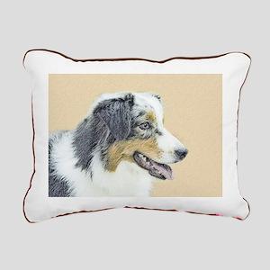 Australian Shepherd Rectangular Canvas Pillow