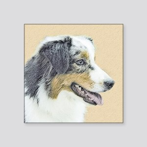 "Australian Shepherd Square Sticker 3"" x 3"""