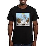 Turkey Decoy Men's Fitted T-Shirt (dark)