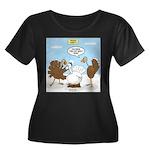 Turkey D Women's Plus Size Scoop Neck Dark T-Shirt