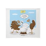 Turkey Decoy Throw Blanket
