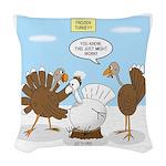 Turkey Decoy Woven Throw Pillow