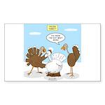 Turkey Decoy Sticker (Rectangle 50 pk)