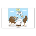 Turkey Decoy Sticker (Rectangle)