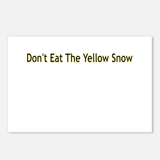 DON'T EAT THE YELLOW SNOW Postcards (Package of 8)