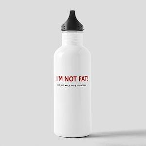 I'M NOT FAT JUST VERY VERY MU Stainless Water Bott