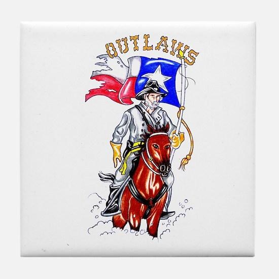 Texas Outlaws Tile Coaster