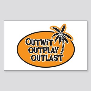 Outwit Outplay Outlast Sticker (Rectangle)