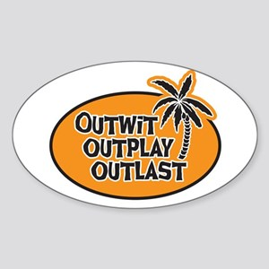 Outwit Outplay Outlast Sticker (Oval)