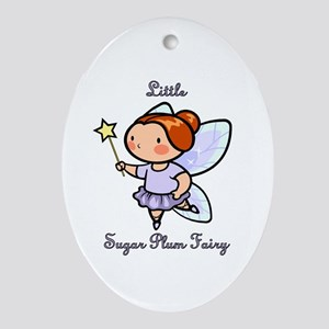 Little Sugar Plum Fairy Ornament (Oval)
