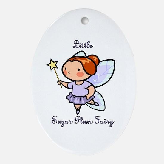 Little Sugar Plum Fairy Ornament (Oval)