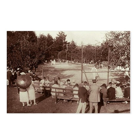 Tennis Match - Postcards (Package of 8)