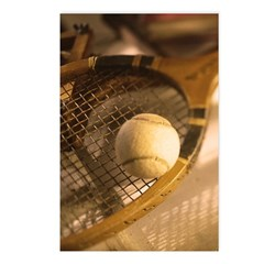 Wooden Racket Postcards (package Of 8)