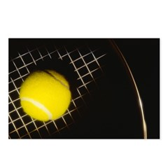 Moody Ball On Racket Postcards (package Of 8)