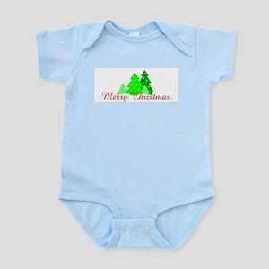 Merry Christmas (Trees) Infant Bodysuit