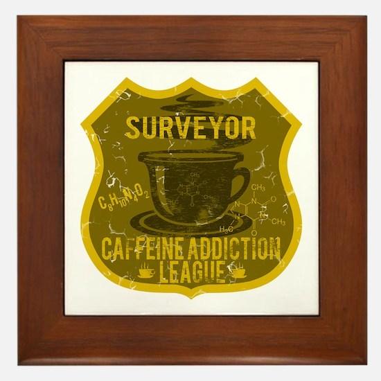 Surveyor Caffeine Addiction Framed Tile
