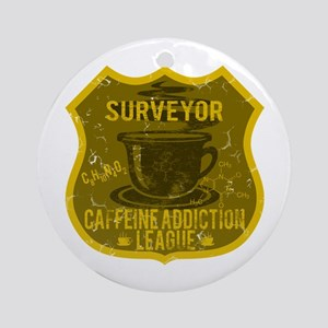Surveyor Caffeine Addiction Ornament (Round)