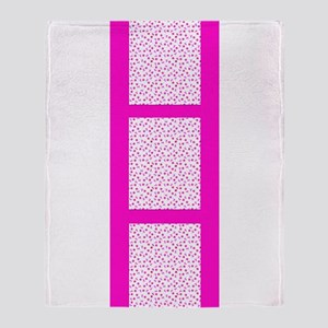 Pink and Toasty Fleurs Designer Throw Blanket