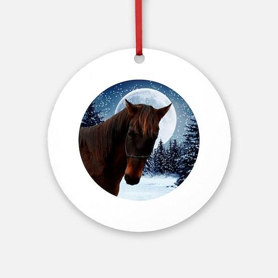 Quarter Horse Winter Ornament (Round)